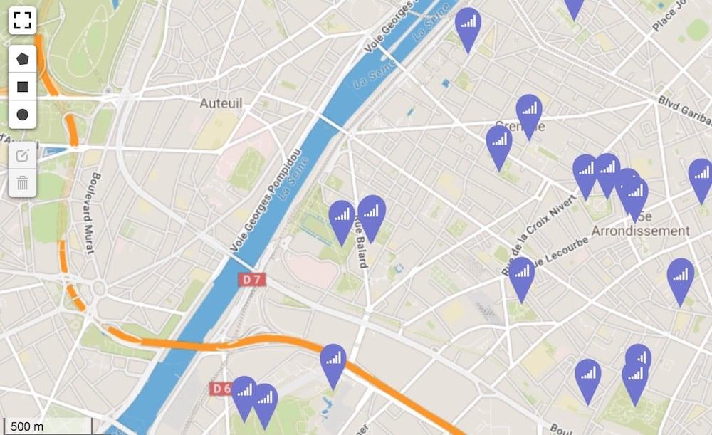 hotspots gratuits WiFi Paris