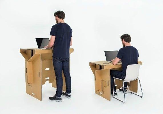 Le gadget du vendredi le bureau pliable et portable for Bureau pliable
