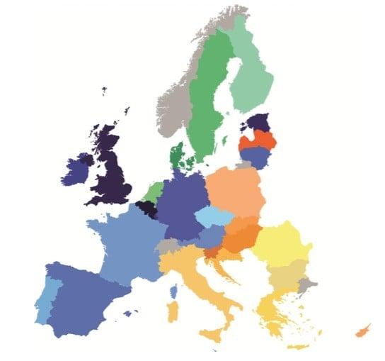 DESI 2015 Europe Map