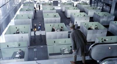 Bureaux dans Playtime de Jacques Tati