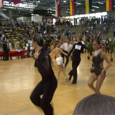 "Me and my brother at the Latin ballroom dance competition, ""Hessen Tanzt""."