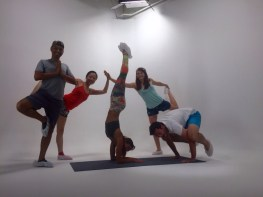 Posing with the Asana Yoga team.