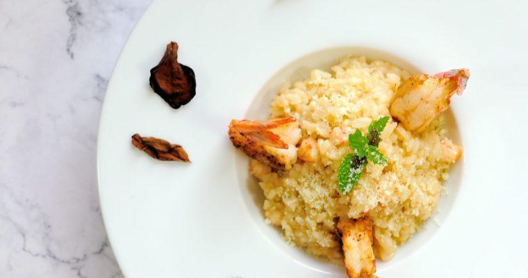 六種常見的蝦子處理方式:鮮蝦燉飯