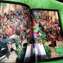 Superheroes at the funeral. It's a great spread. Love the colors and lighting.