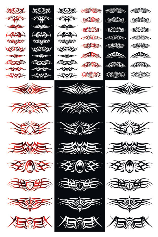 300 balance of the tide totem tattoo vector material …