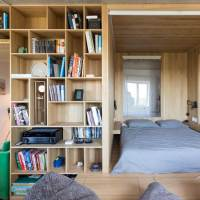 MULTI-FUNCTIONAL ROOM CREATED WITH PLYWOOD