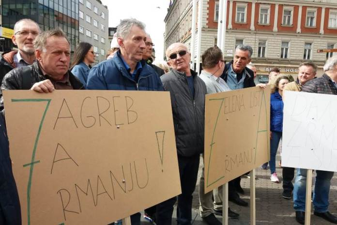 5 do 12 za Zrmanju! Na središnjem zagrebačkom trgu održan prosvjed za spas kraške ljepotice