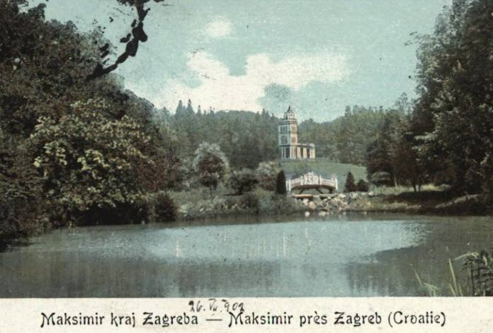 Maksimir - razglednica iz 1902.