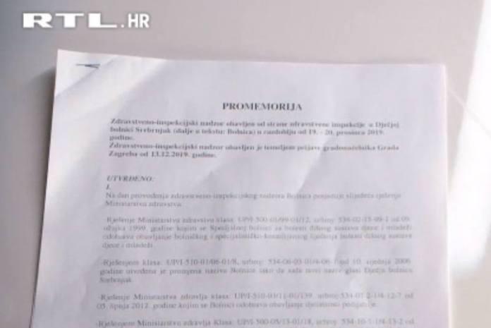 Inspekcija nije pronašla dokaze da je bilo nadriliječništva u Dječjoj bolnici Srebrnjak!