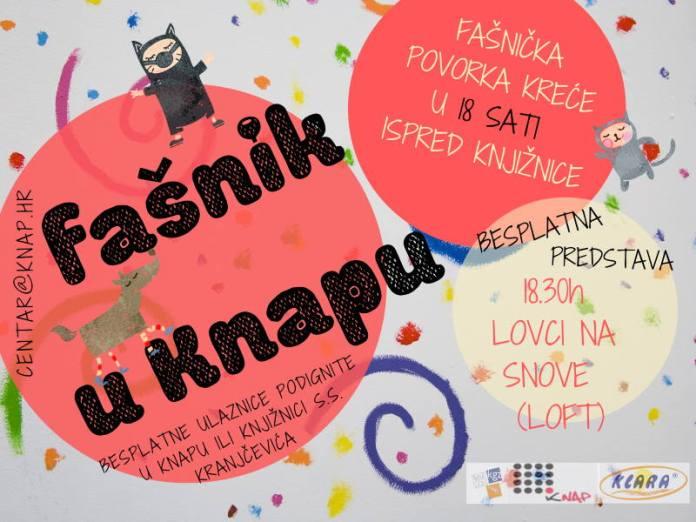 Centar Knap i ove godine priređuje tradicionalni veseli Fašnik! Bit će finih krafni, jedna sjajna predstava...