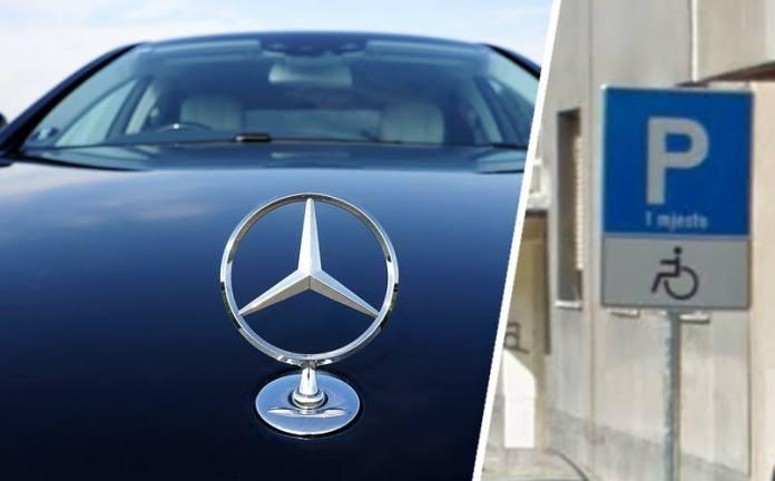 S krivotvorenim oznakom parkirala Mercedes na mjestu za invalide, prijavljeni vozačica i krivotvoritelj
