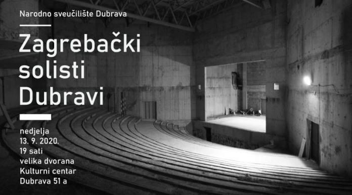 ZAGREBAČKI SOLISTI U DUBRAVI: Prvi put u velikoj dvorani nedovršenog Kulturnog centra Dubrava
