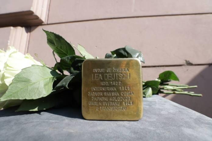 """Zagreb dobio prvi """"kamen spoticanja"""", postavljen je  u spomen na Leu Deutsch"""