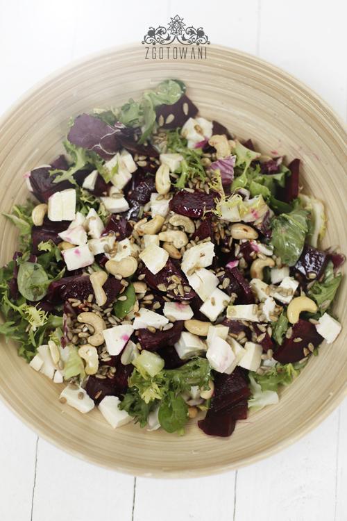 salatka z buraczkami, mozzarella i orzechami 3
