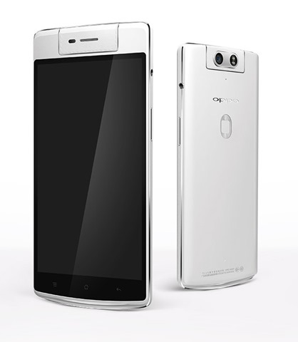 OPPO N3推出的一款高端智能手機攝像頭旋轉