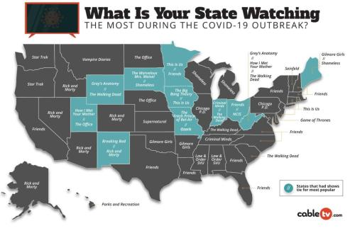 Here's What Each State Is Binge-Watching During The COVID-19 Lockdown