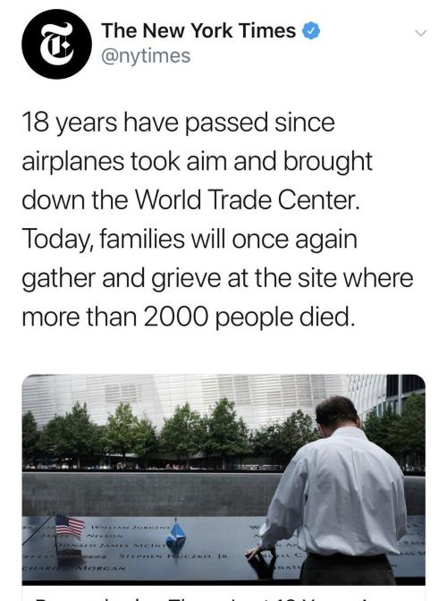 "New York Times Blames ""Airplanes"" For 9/11 Attack"