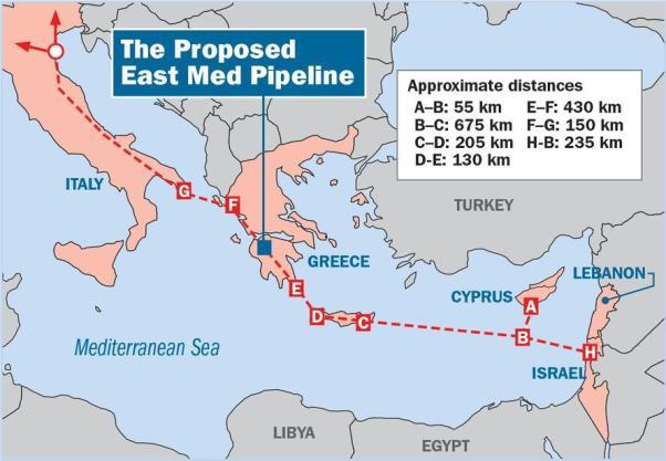 Bildergebnis für EastMed-Gaspipeline