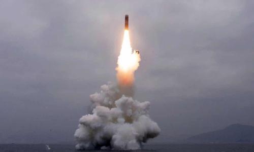 """NK prueba misil balístico sublanzado en demostración de """"capacidad de segundo ataque"""" 1"""