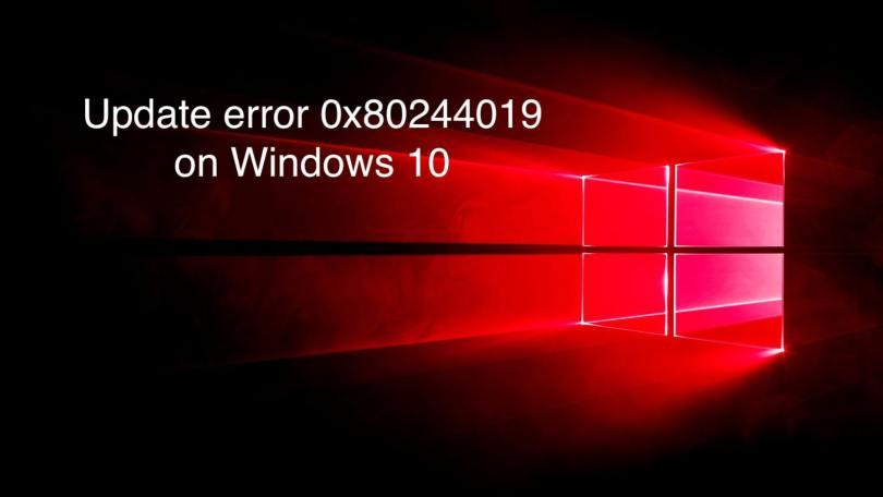 windows update error 0x80244019