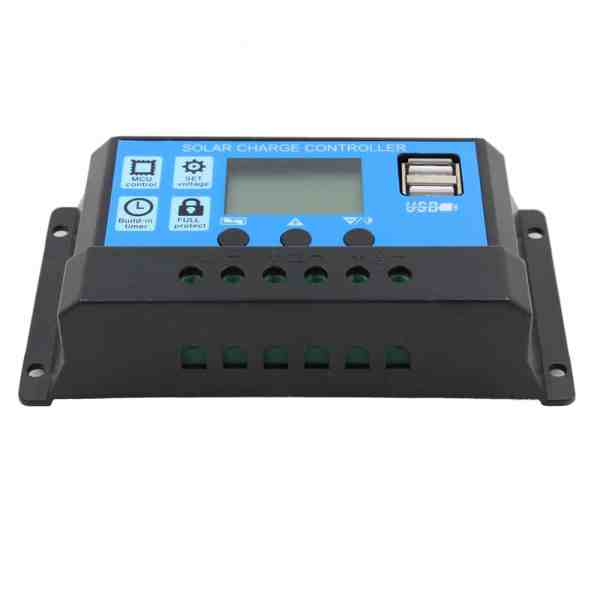 Solar Charge Controller With LCD Dual USB Solar Cell Panel 5