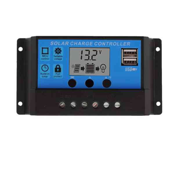 Solar Charge Controller With LCD Dual USB Solar Cell Panel 1