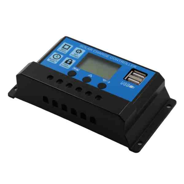 Solar Charge Controller With LCD Dual USB Solar Cell Panel 7