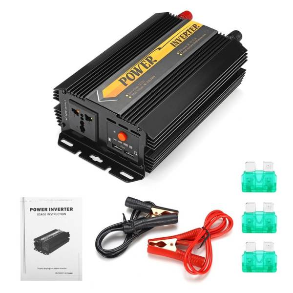 Dual USB Max 6000 Watts 3000W Power Inverter DC 12 V to AC 220 Volt Car Adapter Charge Converter Modified Sine Wave Transformer 6