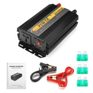 Dual USB Max 6000 Watts 3000W Power Inverter DC 12 V to AC 220 Volt Car Adapter Charge Converter Modified Sine Wave Transformer 11