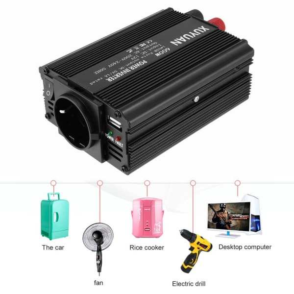Professional 600W USB Power Inverter DC 12V to AC 220V with LED Indicator Car Converter for Household Appliances 1