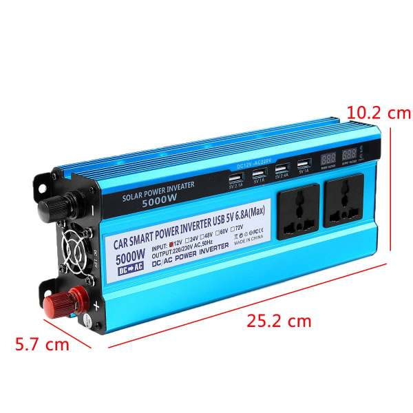 Solar Inverter DC 12V 24V 48V to AC 220V 3000W 4000W 5000W Inverter 4