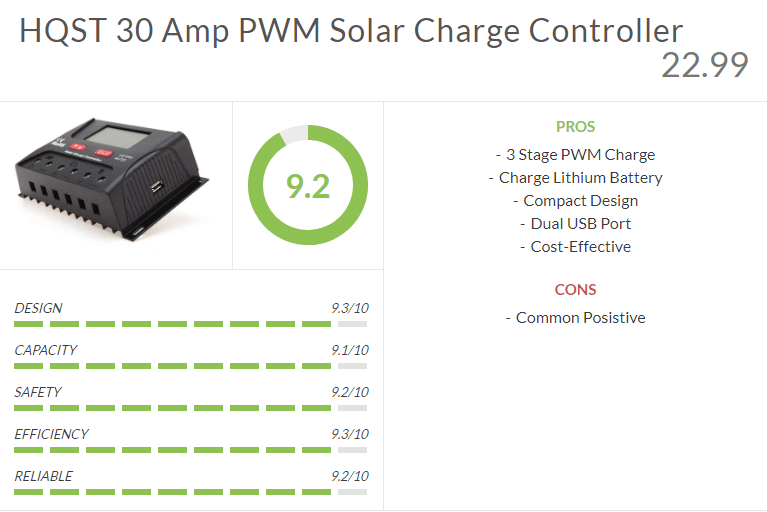 HQST 30 Amp Solar Charge Controller