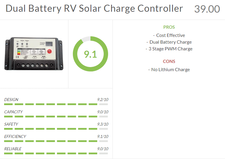 dual battery rv solar charge controller review