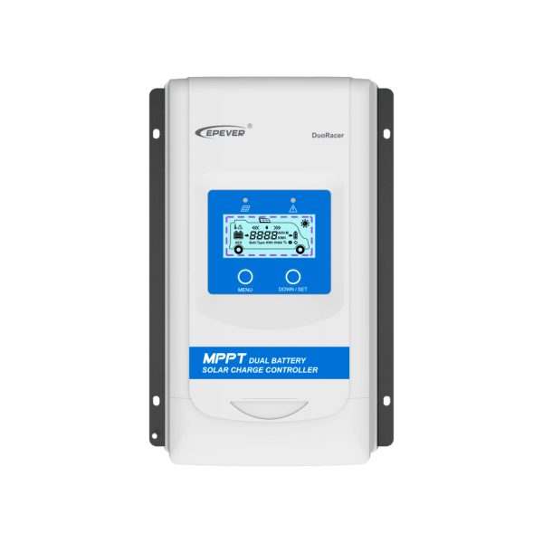 EPever MPPT Dual Battery Solar Charge Controller DuoRacer 1