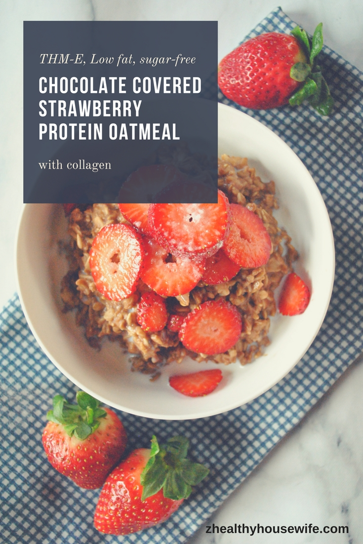 Chocolate Covered Strawberry Protein Oatmeal