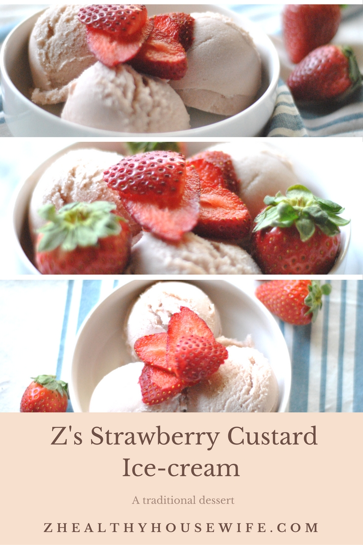 Z's Strawberry Custard Ice-Cream