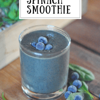 Z's Blueberry Spinach Smoothie