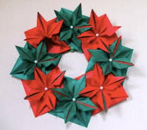クリスマスリース 手作り 折り紙