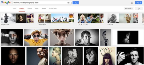 Using Google Images for photography inspiration