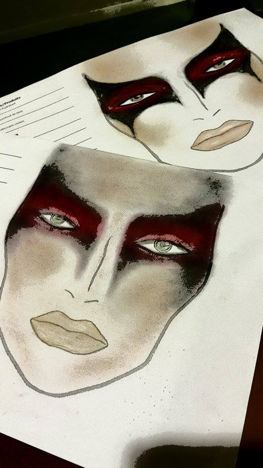 Makeup Diagram by Kyran Tashea Makeup Artist