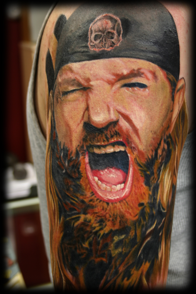 Tattoos. Tattoos Color. Zakk Wyld portrait