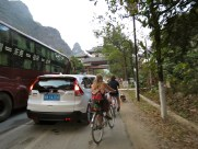 We hit rush hour traffic going back into Yangshuo. Many near-misses with cars and mopeds around, but we made it back safe and Emma caught her bus with 5 minutes to spare