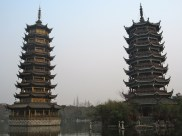 It's kinda difficult to tell which one is the Sun Pagoda and which one is the Moon Pagoda during the day...