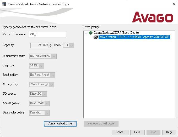 z_Create Virtual Drive_Raid 1_1