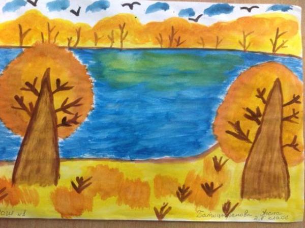 Как нарисовать осень: поэтапное рисование иллюстрации к ...