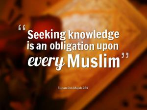 Knowledge, ISLAM