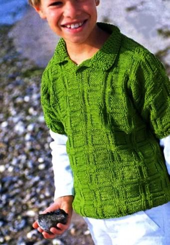 кофточка с короткими рукавами для мальчика 5 7 лет вязание на