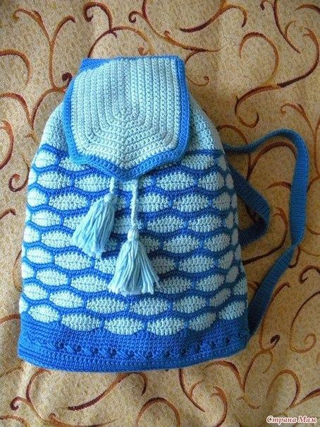 рюкзак крючком вязание крючком журнал вдохновение рукодельницы