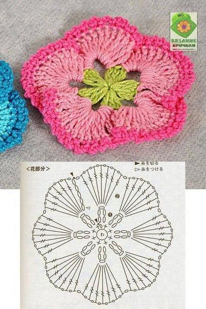 цветы крючком схемы вязаные цветы журнал вдохновение рукодельницы