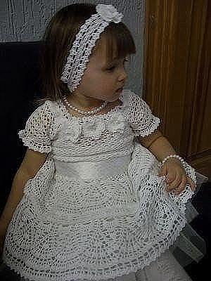 платье снежинка для девочки вязание крючком журнал вдохновение